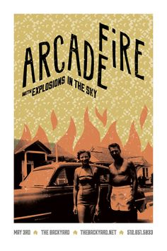 Arcade Fire Gig Posters by Bryan Schmidt, via Behance