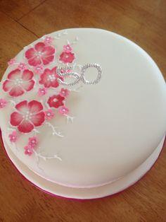 Brush embroidery birthday cake