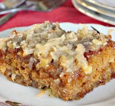 """Texas Tornado Cake ~ People always called it """"Fruit Cocktail Cake"""". Everyone loves it. It is very moist and very sweet."""