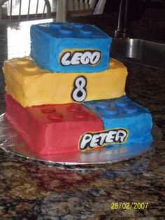 Lego Bricks Cake