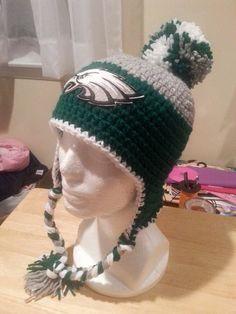 Philadelphia Eagles Crocheted Beanie by FaithfulDexterity on Etsy
