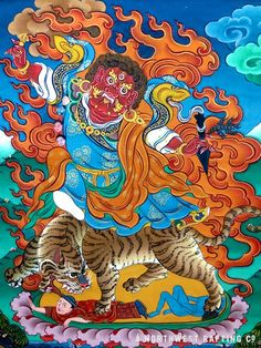 Dorje Drolo; Was the last of padmasmbhavas 8 forms. It is said that he turned one of his consorts into a pregnant Tiger's & traveled to Bhutan, via Sikim where he subdued the last of the local spirits & demons with his Purbha. That was the begining of Buddhism in the Himalayas, he made the local spirits he had subdued take a vow to always protect the Dharma, these are now some of the most powerful Tantric Buddhist protectors.