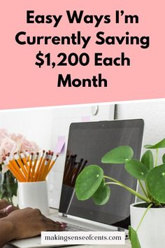 Easy Ways I'm Currently Saving $1,200 Each Month Make Money Blogging, Money Saving Tips, How To Make Money, Online Income, Frugal Living Tips, Financial Goals, Saving Ideas, First Year, How To Start A Blog