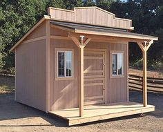 California Custom Sheds - Western Roof Style