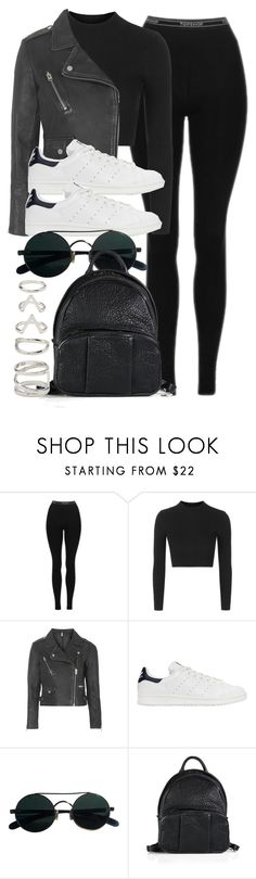 """Style #11741"" by vany-alvarado ❤ liked on Polyvore featuring Topshop, adidas Originals, Alexander Wang and Forever 21"
