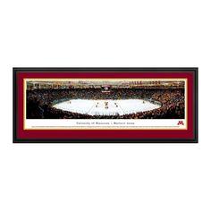 "Minnesota Golden Gophers 18"" x 44"" Hockey Deluxe Framed Panoramic Wall Art"