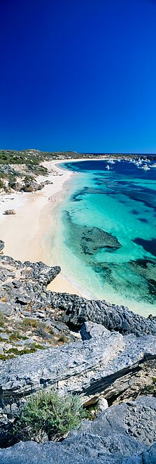 Rottnest Island by Christian Fletcher - located 18 km off the coast of Western Australia, near Fremantle. The island has been an important holiday destination for over 50 years, making it an iconic location for generations of Perth residents. Perth Western Australia, Australia Travel, Queensland Australia, Australia Winter, Australia Funny, Australia Country, Brisbane Queensland, Holiday Destinations, Travel Destinations