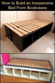 Bed Frame Under Bed Storage Bed Frame Twin No Box Spring Needed Furnitureunik Furnitureclassic Bedframes Ikea Bedroom Storage Diy Bed Frame Diy Platform Bed