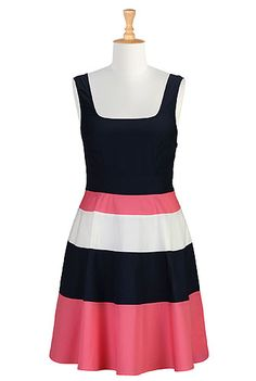 Colorblock stripe retro frock