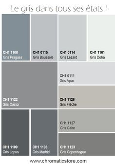1000 images about chromatic gris neutres et colores on pinterest deco grey and dark grey walls. Black Bedroom Furniture Sets. Home Design Ideas