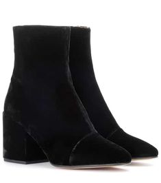106cb7a4e5e4 Velvet ankle boots. mytheresa.com. Velvet ankle boots