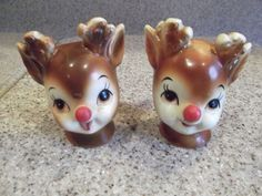 VINTAGE LEFTON REINDEER SALT& PEPPER SHAKERS CHRISTMAS #4370 | eBay