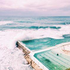 Stormy seas ☁️. #bondiicebergs #bondibeach #Sydney #bonditobronte