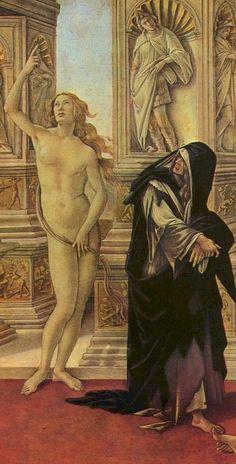 """The smearing of Apelles"" - Sandro Botticelli, 1494-1495(detail)"