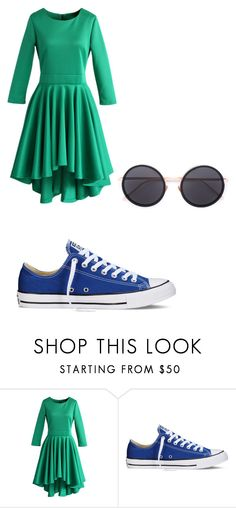 """complmentary"" by maddieghargett on Polyvore featuring Chicwish, Converse and Linda Farrow"