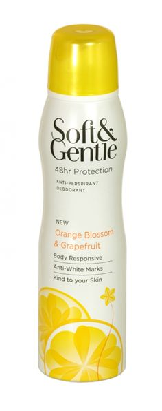 Soft & gentle anti-perspirant deodorant 150ml orange blossom & grapefruit