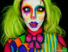 Photo from dehsonae Creepy Clown Makeup, Circus Makeup, Halloween Face Makeup, Halloween Cosplay, Halloween Make Up, Halloween Ideas, Halloween 2020, Halloween Costumes, Clowns