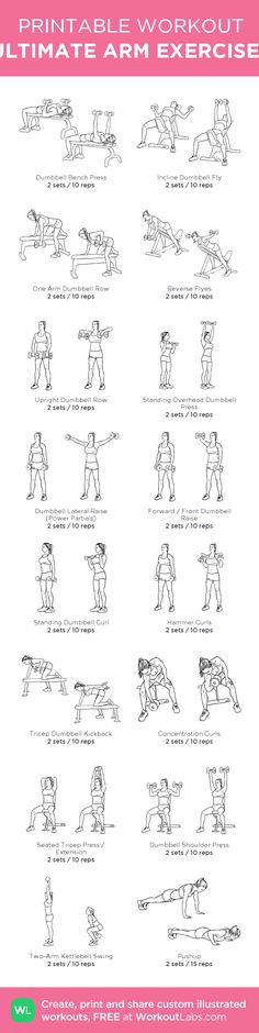 ULTIMATE ARM EXERCISES: my custom printable workout by @WorkoutLabs #workoutlabs #customworkout