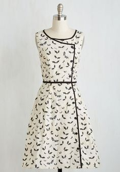 If you want to channel your inner Mavis in your daily fashion, how about this super cute bat print wrap dress?!