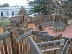 Playground Made Out of Tires | of logs and lumber architect s plan of the playground
