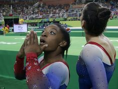 Her success in Rio cemented claims that she's the best gymnast of her generation and probably the best ever. Biles blows kisses to her fans in the audience during the floor exercise competition