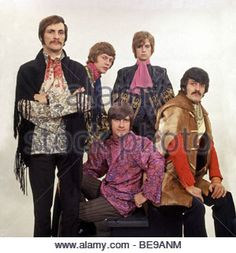 MOODY BLUES  - UK pop group in  September 1968   with Justin Hayward top right - Stock Photo