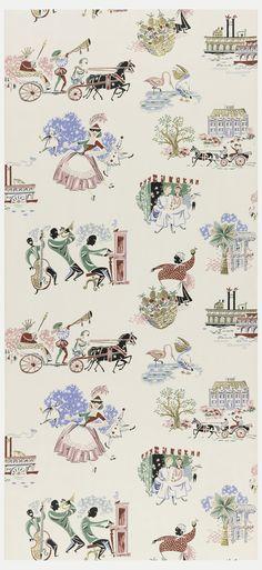 Suzanne Lipschutz's vintage wallpaper collection