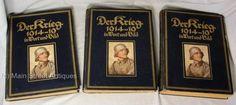 Original-Book-Der-Krieg-1914-19-in-Wortund-Bild-Berlin-Leipzig-1918