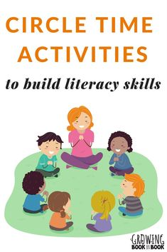 Lots of books, songs, and activities to build literacy-rich circle times with toddlers, preschoolers, and kindergarteners. #circletime #literacy via @growingbbb