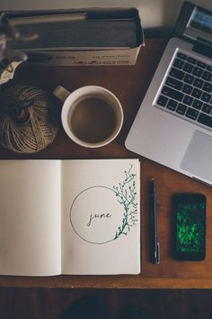 Journal, Tea, and the power of a MacBook. My ideal of a Journal is being unplugged. Fall Inspiration, Journal Inspiration, Moleskine, Smash Book, How To Plan, How To Make, Stationery, Bullet Journal, Life Journal