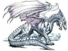 Dragon design - Tail, back scales, head shape Dnd Dragons, Types Of Dragons, Dungeons And Dragons, Dragon Images, Dragon Pictures, Dragon Pics, Ice Dragon, Dragon Art, Silver Dragon