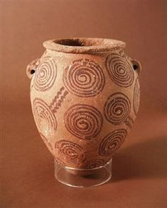 Tall Jar with Lug Handles (c.3400-3300 B.C.) marl clay pottery, Egypt, middle Predynastic Period, Naqada IIb Period