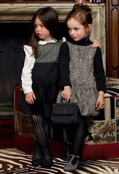 Fashionable little girl's clothing.