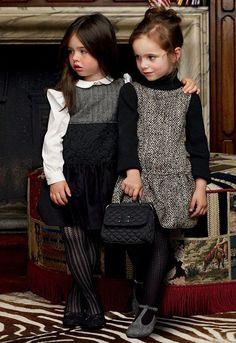girls fashion, kids fashion, dress, tights, flats, sweater, fashion