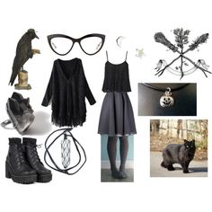 the gentle witch by earthandbone on Polyvore featuring polyvore fashion style dominic louis Upper Metal Class Miu Miu