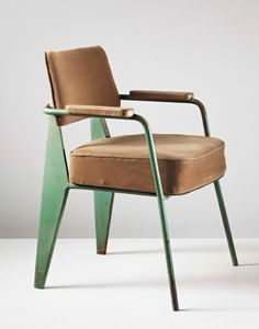 'Direction' armchair, model no. 352, Manufactured by Les Ateliers Jean Prouvé and editioned by Steph Simon, France. c1951