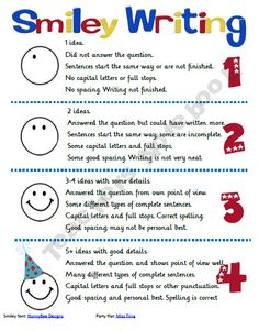 Smiley Rubric for Letter Writing- I love how this is simlified for students to see with pictures and numbers to relate to.
