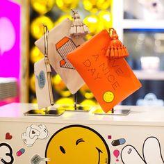 """Details from the #AnyaHindmarch @chaosfashiondotcom #StickerSHOP pop-up at Hankyu Umeda, Osaka"""