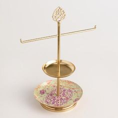 One of my favorite discoveries at WorldMarket.com: Gold Lotus Jewelry Stand with Dish