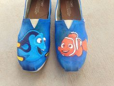 cool nemo n his dad shoe pair