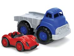 Green Toys - Eco Friendly Flatbed Truck and Race Car