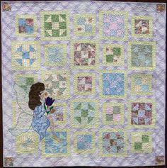 Fairy Garden, lap quilt