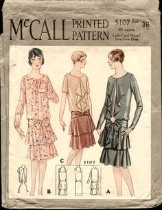 McCall Pattern Ladies' Dress with Large Collar Large Size Mccalls Patterns, Dress Sewing Patterns, Vintage Sewing Patterns, Pattern Dress, 1920s Outfits, Vintage Outfits, Vintage Fashion, Vintage Couture, Vintage Hats