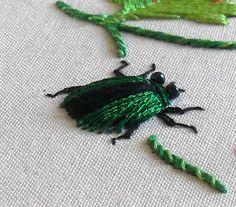 I have not tried stumpwork YET, but I like all kinds of BUG stuff.  Tutorial: Stumpwork beetle · Needlework News | CraftGossip.com