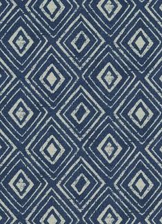 "Windhan 593 Indigo - Jennifer Adams Home Fabric - Jacquard geometic fabric. Beautiful fabric for window treatments, furniture upholstery or top of the bed. Content; 73% poly / 27% cotton. Repeat; V 3"" x H 3.5"". 54"" wide. Durable 50,000 double rubs. Please note; 10 Yard minimum."
