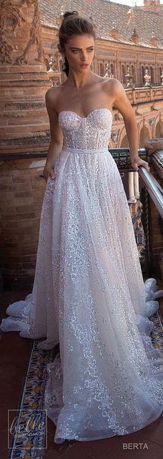 Berta Seville Wedding Dress Collection!!!! .... Maravilloso vestido en tul completamente bordado en plata