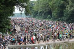 Starting the Critical Mass Hamburg July, 26, 2013 - at least we were about 3000 bikes…