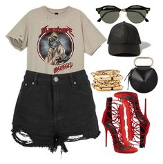 """""""Obsessed"""" by kimeechanga ❤ liked on Polyvore featuring Giuseppe Zanotti, 3.1 Phillip Lim, Diane Von Furstenberg, Ray-Ban and Abercrombie & Fitch"""