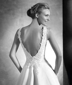 Pronovias > VIGI - Wedding dress with gemstones and bateau neckline