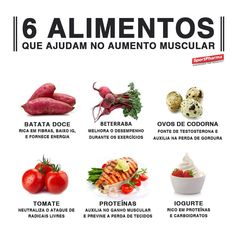 Alguns alimentos podem te ajudar no ganho de massa muscular!
